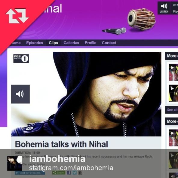 Bohemia on Nihal's BBC1 Radio Interview